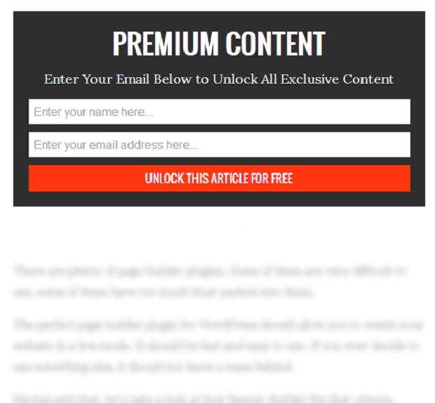 grow your email list with gates content