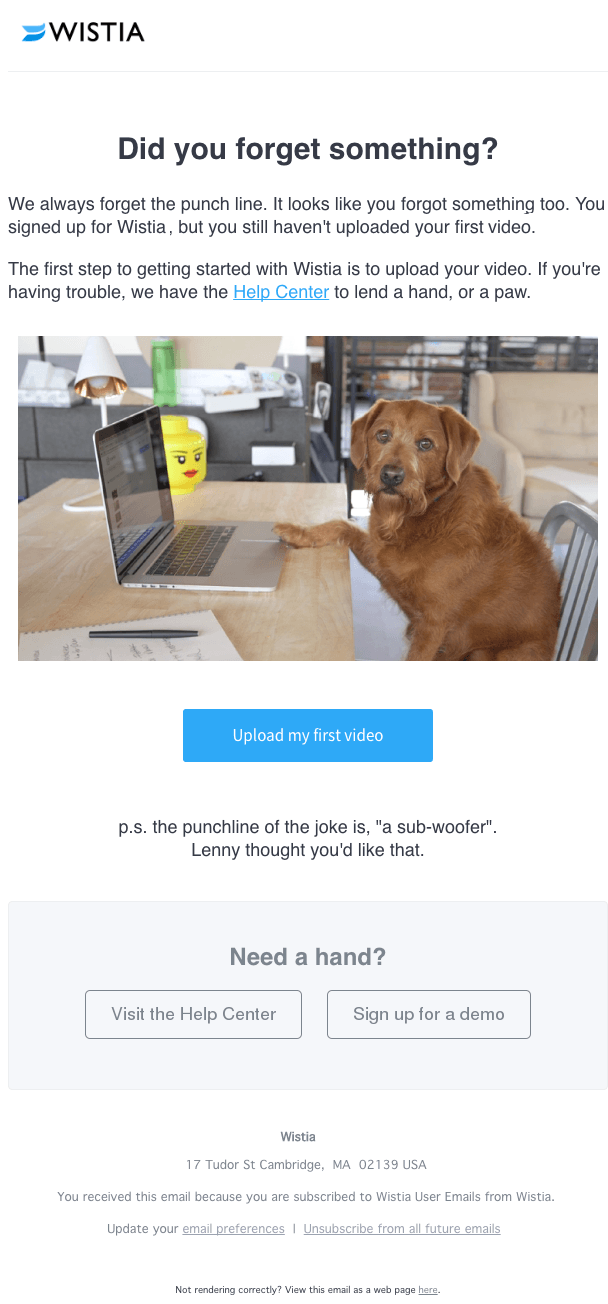 wistia email exmaple